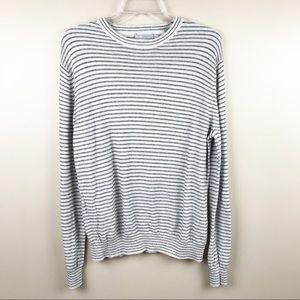 Vince men's sweater crewneck linen cotton stripe